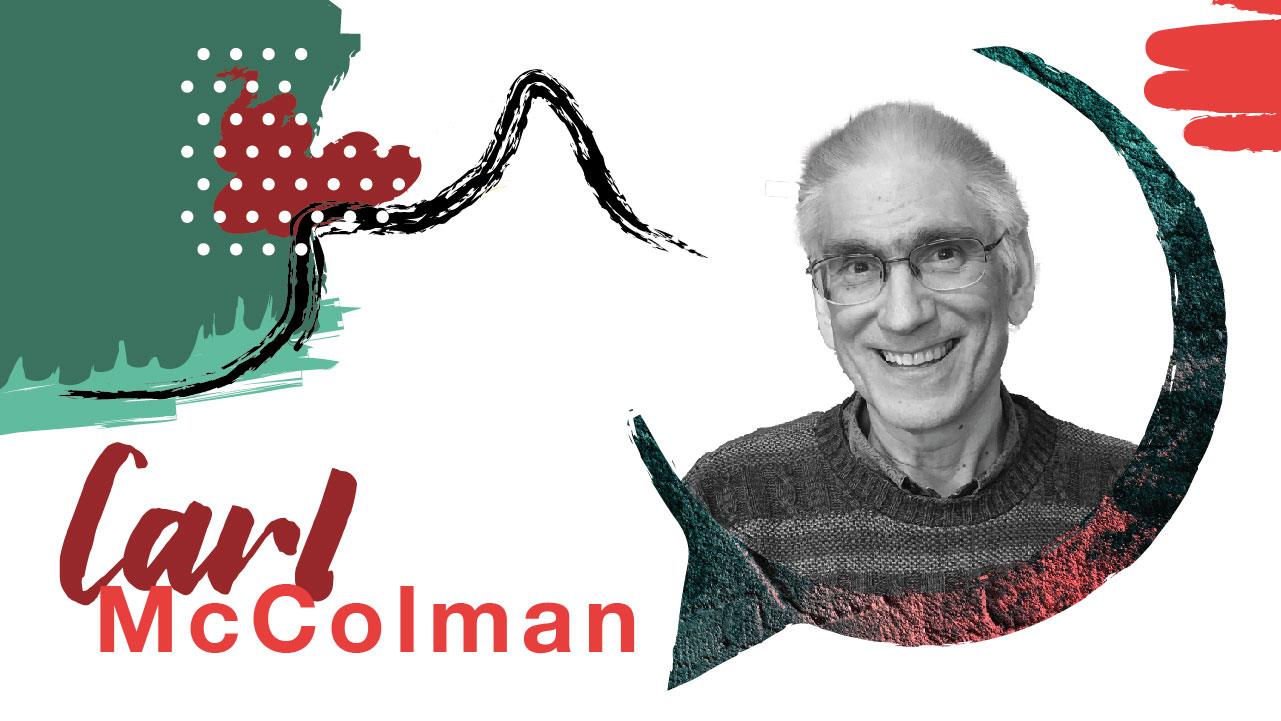 Carl McColman - American Christian author, blogger, and podcaster. He travels widely, both physically and through online engagement, leading retreats and giving talks on Christian spirituality