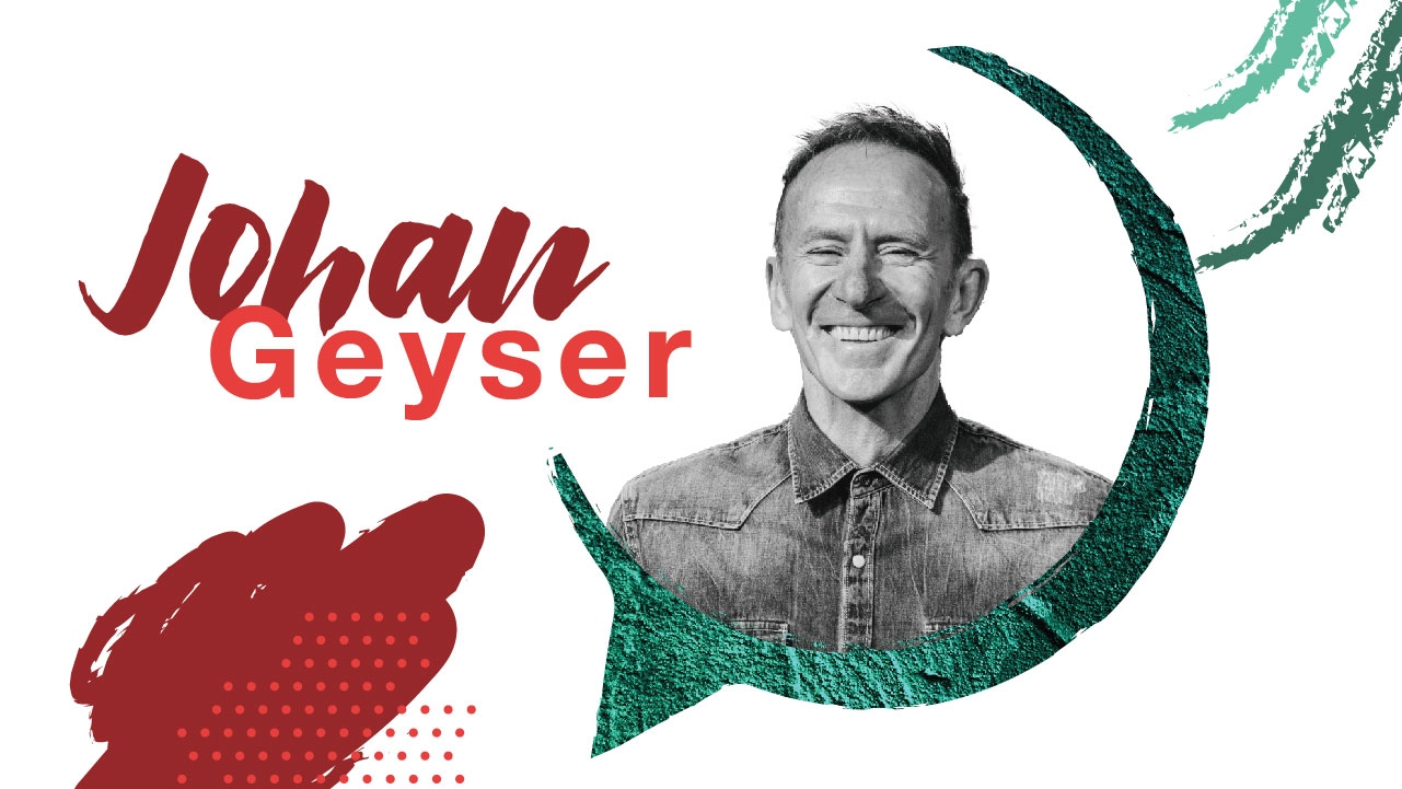 Johan Geyser - Serves the community of Mosaiek as Cultural Architect since 1987. His time is devoted shaping the current culture by leading and teaching spiritual formation.