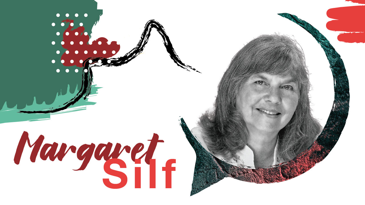 Margaret Silf - Author of a number of books for 21st century spiritual pilgrims, trained in spiritual accompaniment by the Jesuits of the British and Irish Province. She works across and beyond the traditional denominations and makes Christian spirituality accessible through her writing, retreats and workshops.